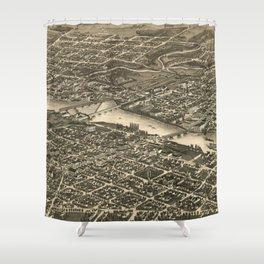 Vintage Map of Rockford Illinois (1880) Shower Curtain