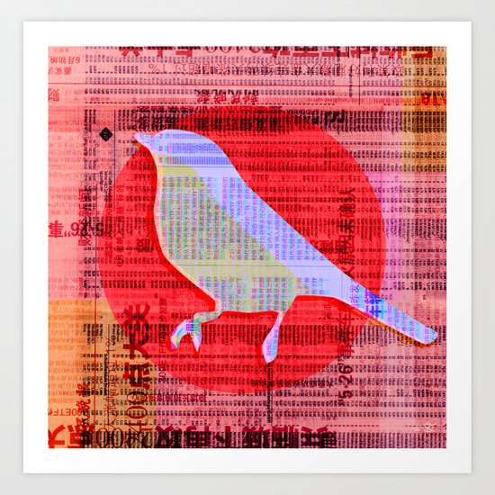 New Bird Paper Art Print