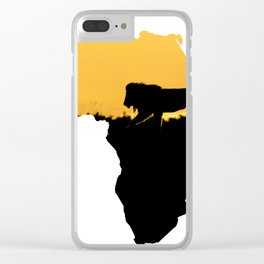 Africa Lion Clear iPhone Case
