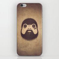 playstation iPhone & iPod Skins featuring The Gamer by powerpig