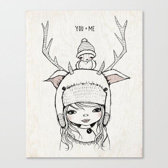 YOU + ME Canvas Print