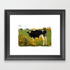 Cow Folk Framed Art Print