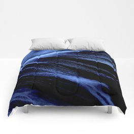 Blue Feather close up Comforters