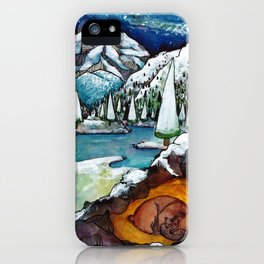 Dreaming Bears iPhone Case