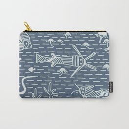 Bluberry Pancake Sea Life No. 2 Stripes Carry-All Pouch