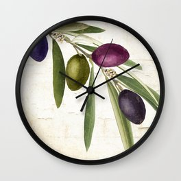 Olive Branch IV Wall Clock