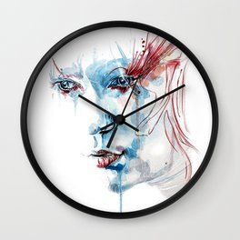 Indelible scars Wall Clock