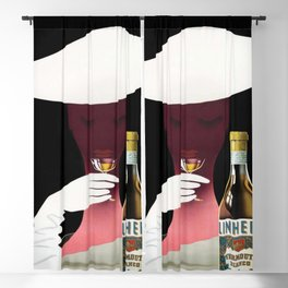 1950 Linherr Vermouth Bianco Aperitif Vintage Poster by arthur Ziegler Blackout Curtain