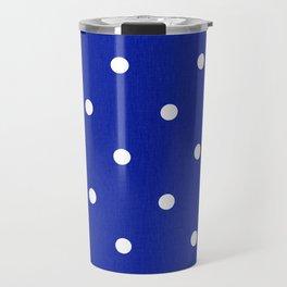 Dotty Blue Travel Mug