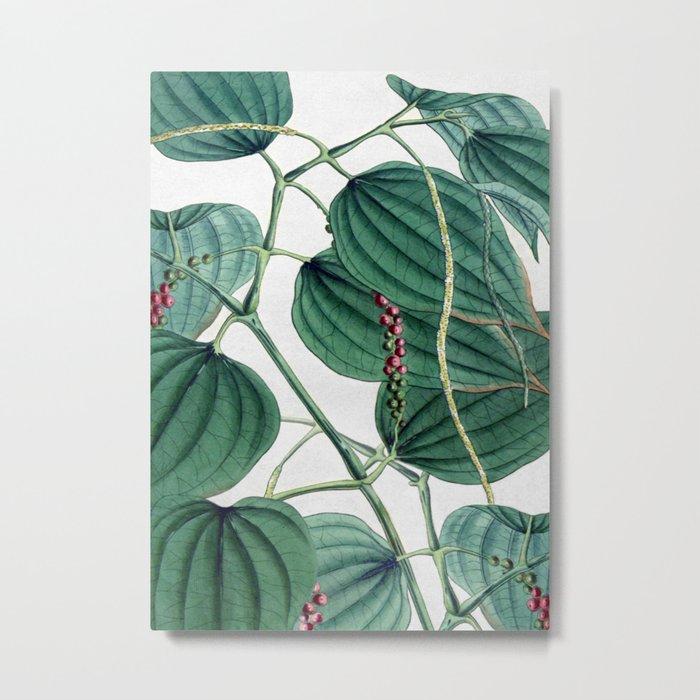 Green leaves I Metal Print