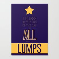 lumpy space princess Canvas Prints featuring Lumpy Space Princess by Rizwanb