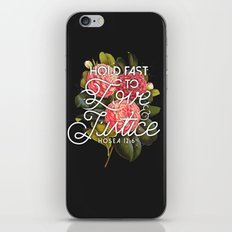 Love and Justice iPhone Skin