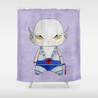 thundercats Shower Curtains featuring A Boy - Panthro (Thundercats) by Christophe Chiozzi