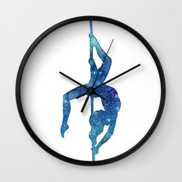 Pole dancer underwater Wall Clock