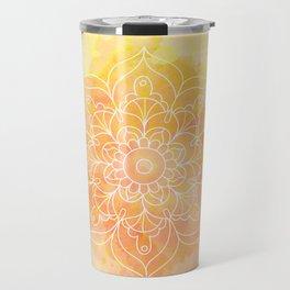 Watercolor Mandala // Sunny Floral Mandala Travel Mug