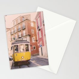 Lisbon Yellow Trolley Stationery Cards