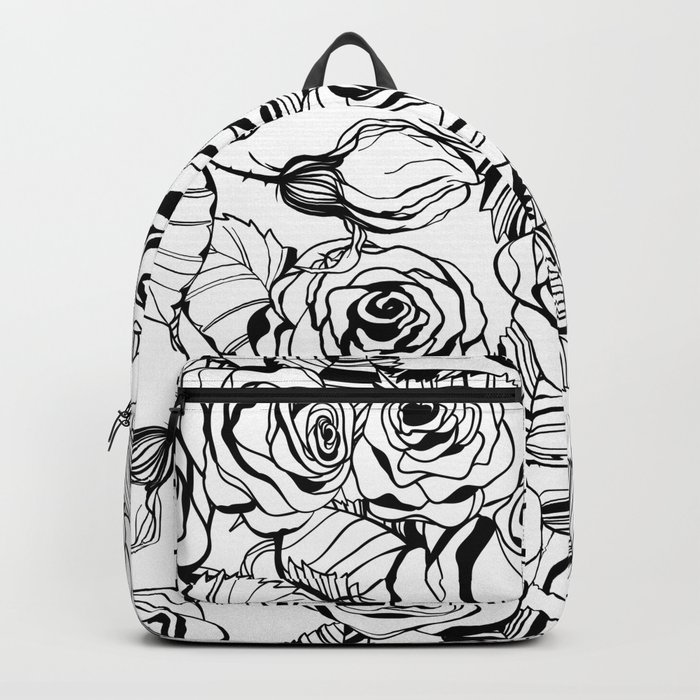Hand Drawn Roses Pattern Backpack By Katerinamitkova Society6