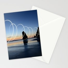 Ocean light rays Stationery Cards