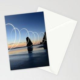 Ocean light rays Stationery Cards