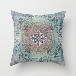 the four directions, a medicine wheel Throw Pillow