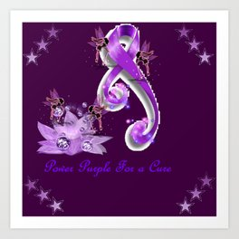 Power Purple For a Cure - Fantasy Art Print