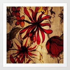 Sketchbook Floral Art Print