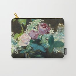 """Édouard Manet """"Vase of White Lilacs and Roses"""" Carry-All Pouch"""