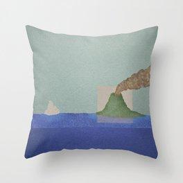 Volcano Meets Iceberg Throw Pillow