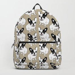 Single Hooded Brindle Pied Frenchie Backpack