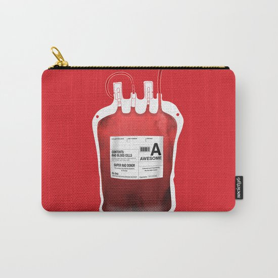 My Blood Type is A, for Awesome! *Classic* Carry-All Pouch