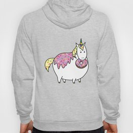 Chubby Unicorn With Colorful Doughnut Sprinkles Hoody