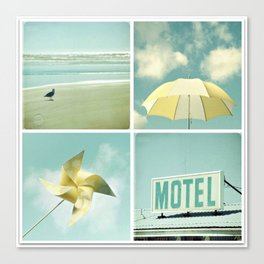 Coastal Collage Canvas Print