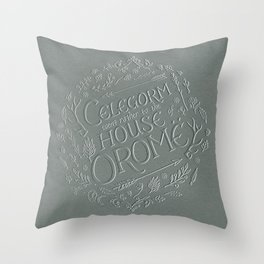Celegorm went rather to the house of Orome Throw Pillow