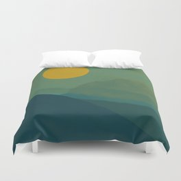 The Hills Felt Green That Evening Duvet Cover
