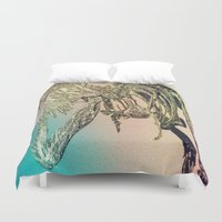t rex Duvet Covers featuring T-REX  by T.E.Perry