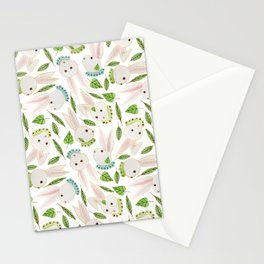 Rabbits in Ruffles Stationery Cards