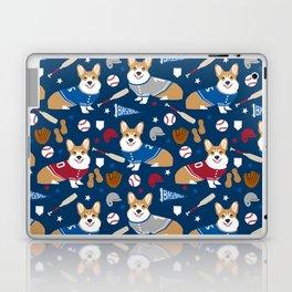 Corgi baseball themes sports dog fabric welsh corgis dog breeds gifts Laptop & iPad Skin