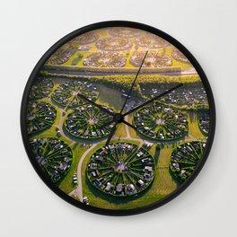 Colony Gardens in Copenhagen, Denmark Wall Clock