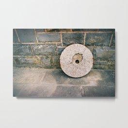 GRAND RESORT SERIES. Stones, Piran, Mediterranean Sea, Color Film Photo Metal Print