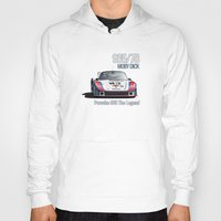 moby dick Hoodies featuring Porsche 935/78 Moby Dick by vsixdesign