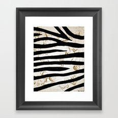 Tyger Stripes Framed Art Print