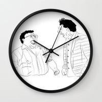 seinfeld Wall Clocks featuring Seinfeld by visualinterpreter