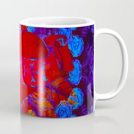 Mom Tattoo Retro Glowing Floral Print Coffee Mug