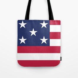 Simplified American Flag Tote Bag