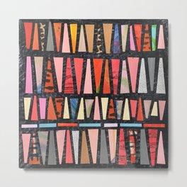 Pink Pyramid Pattern Metal Print