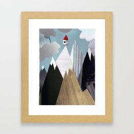 Mountaintop House Framed Art Print