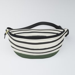 Forest Green x Stripes Fanny Pack