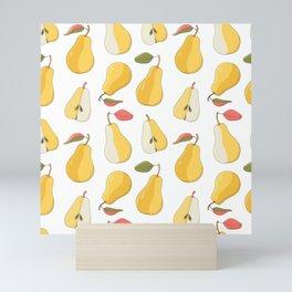 yellow pears Mini Art Print