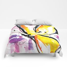 Butterfly Song No. 50 by Kathy Morton Stanion Comforters