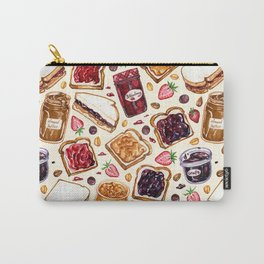 Peanut Butter and Jelly Watercolor Carry-All Pouch